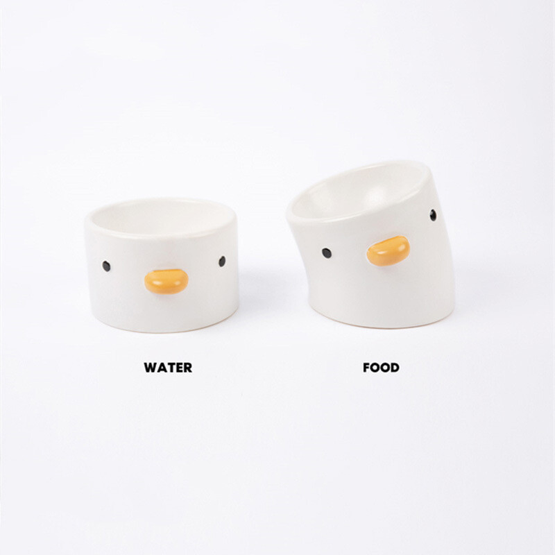 Little Chick Ceramic Pet Food Bowl