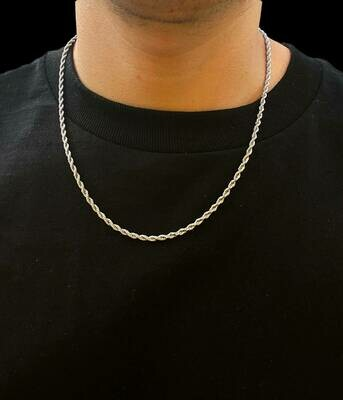 Diamond Cut Rope Chain 26