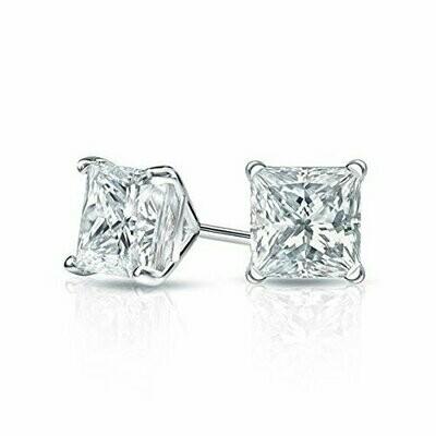 Square Cubic Zirconia Earrings 3MM