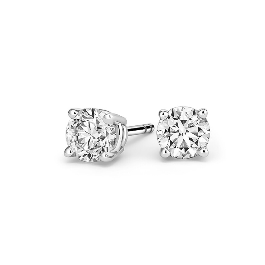 Round Cubic Zirconia Earrings 3mm