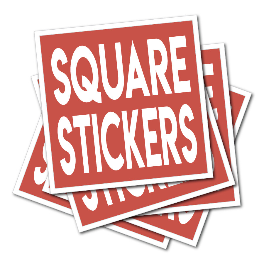 Square Shaped Stickers