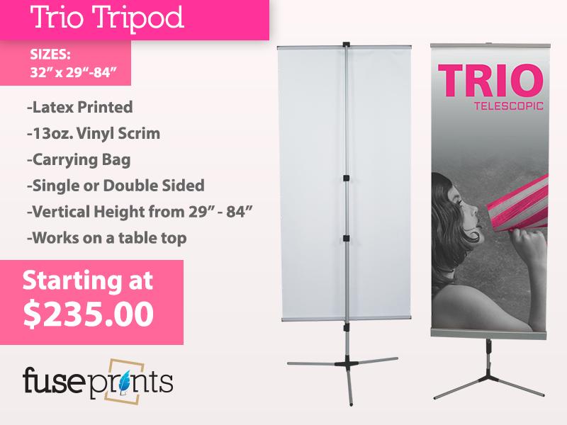 Trio Tripod Banner Stand