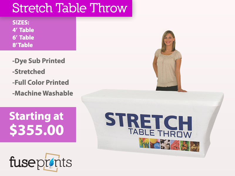 Stretched Full Color Table Throws