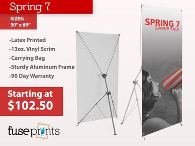Spring Back 7 Banner Stand