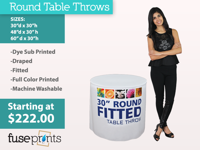 Round Full Color Table Throws