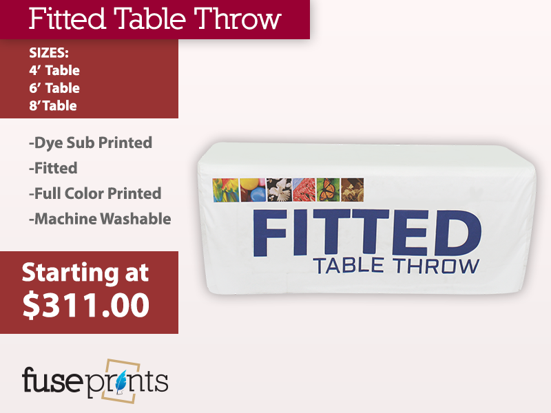 Fitted Full Color Table Throws