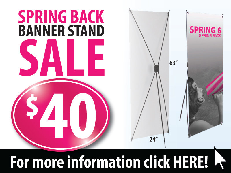 Spring Back 6 Banner Stand