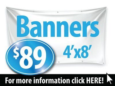 Printed Banner Special, 4'x8' Banner