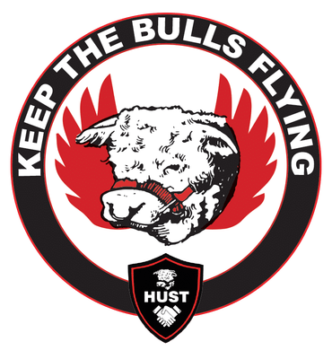 Keep the Bulls Flying Enamel Badge