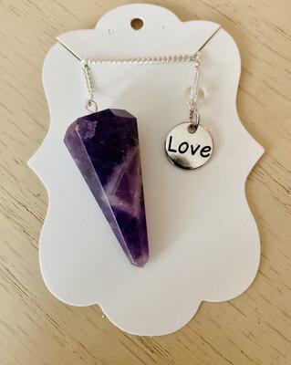 Amethyst Pendulum - Charms May Vary