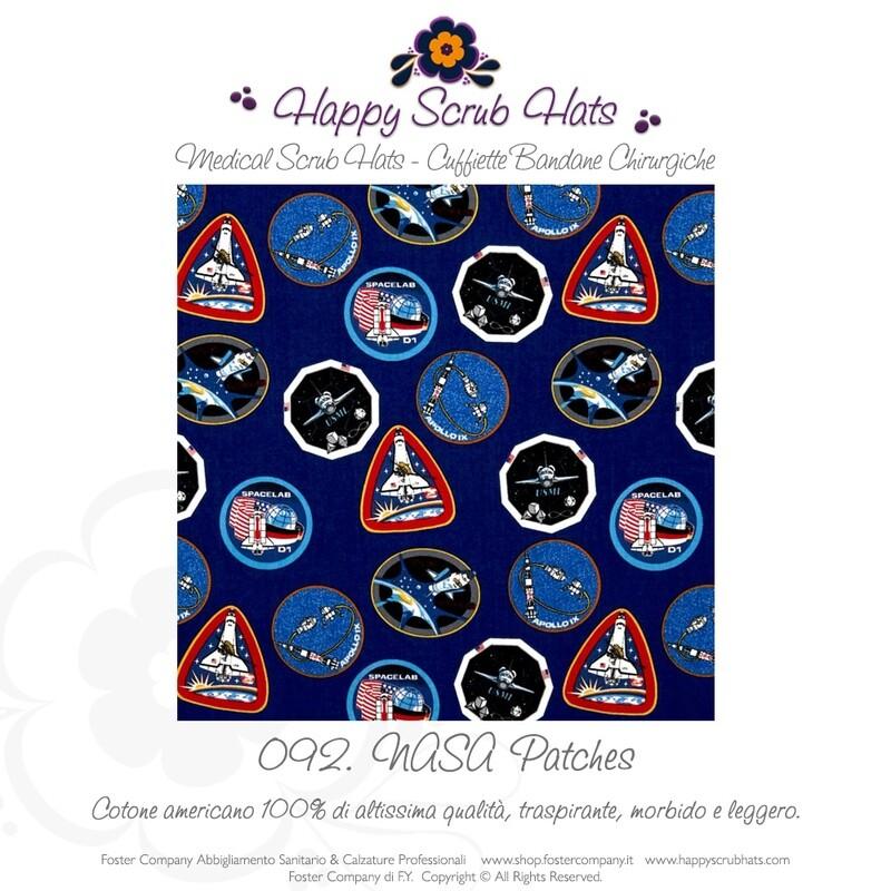 092. HAPPY SCRUB HATS Bandana Professionale Cappellino Chirurgico