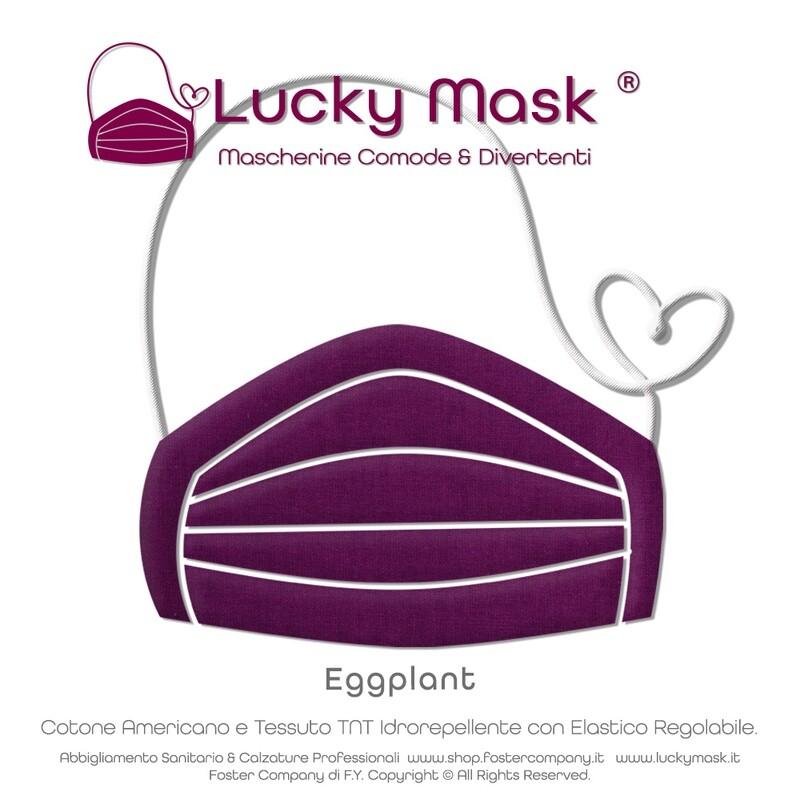 Mascherine Protettive Tinta Unita Lavabili Personalizzabili con Ricamo LUCKY MASK
