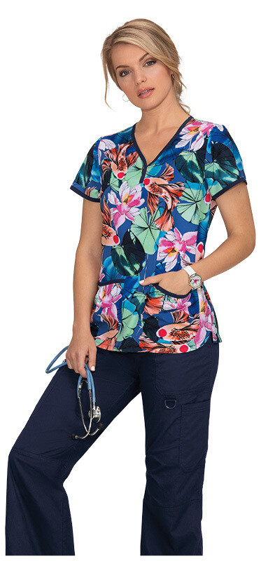 Casacca KOI FASHION EVE TOP 1007PR-KFP Koi Floral Pond