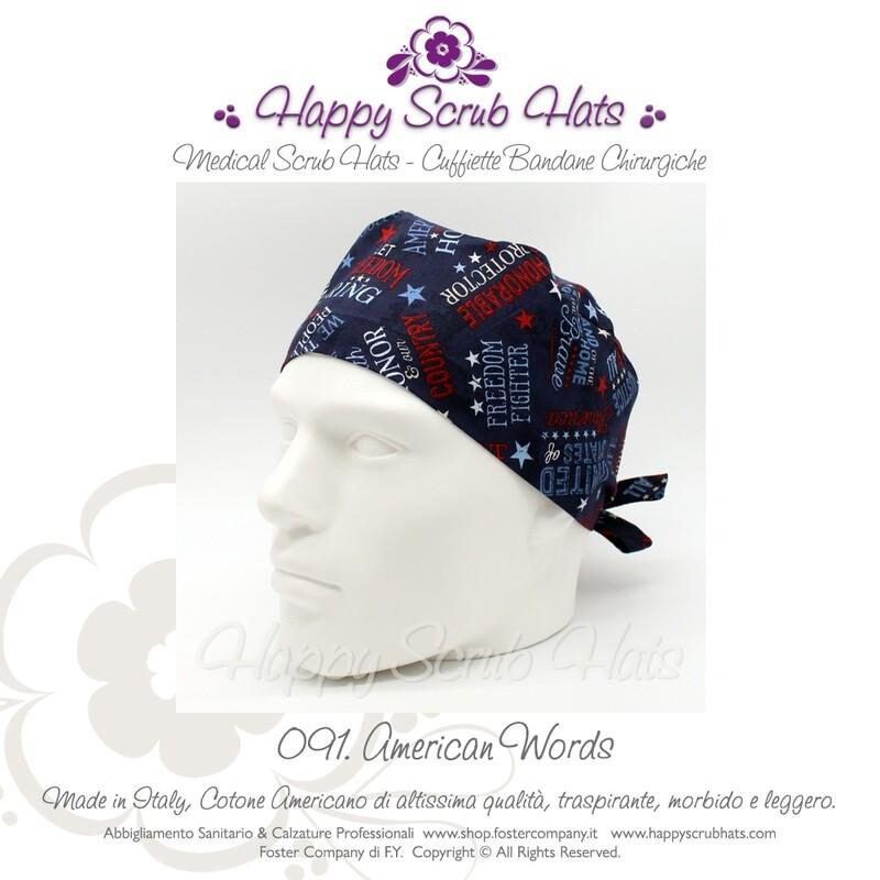 Cuffietta Chirurgica Cappellino da Lavoro HAPPY SCRUB HATS 091