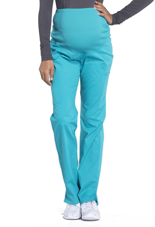 Pantalone MATERNITY per Donna Incinta WW220 Teal Blue