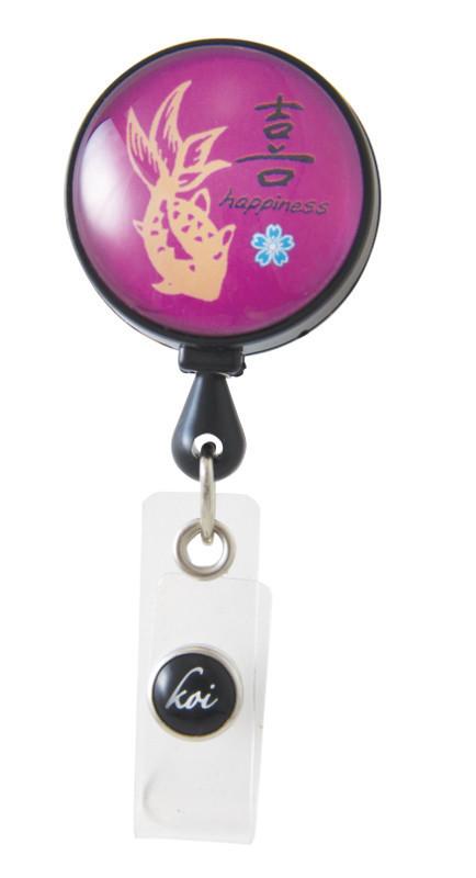 Accessori Koi Porta Badge Kanji Happiness