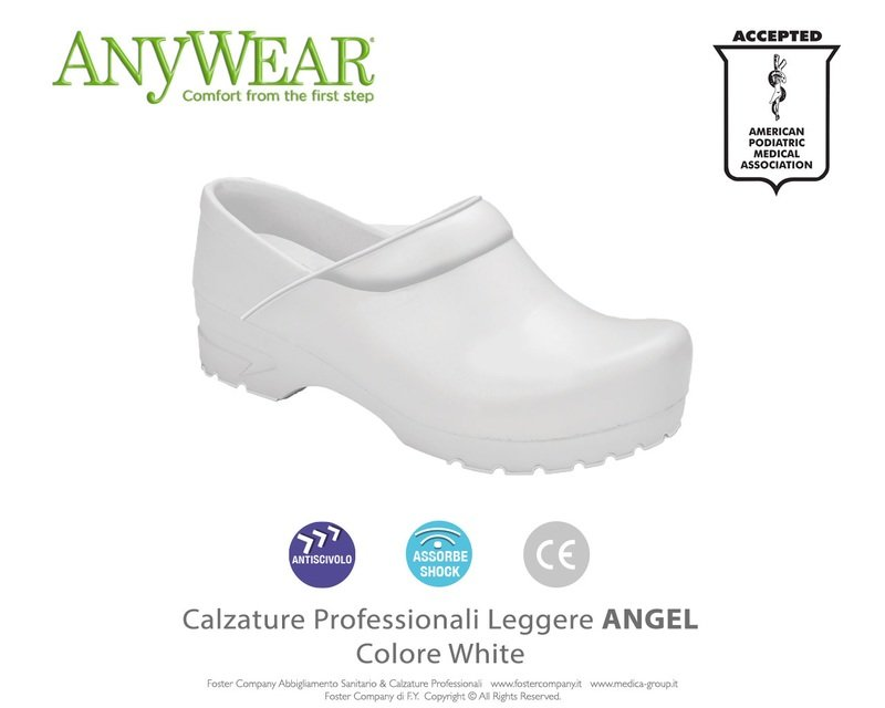 Calzature Professionali Anywear ANGEL Colore White