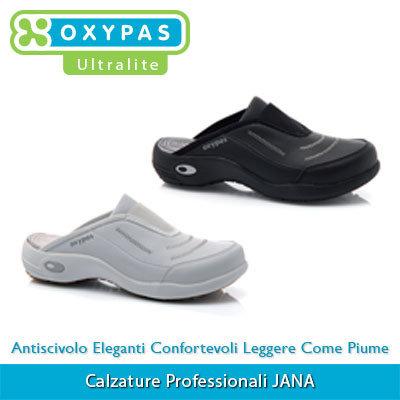 Calzature Professionali Oxypas JANA Colore 01. White - 02. Black