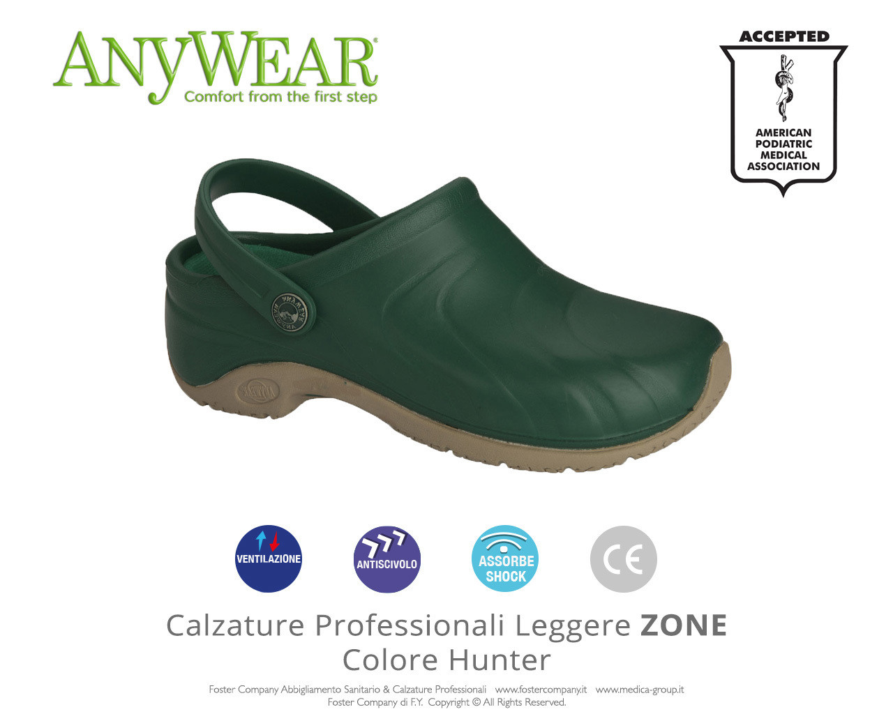 Calzature Professionali Anywear ZONE Colore Hunter