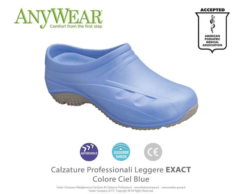 Calzature Professionali Anywear EXACT Colore Ciel Blue