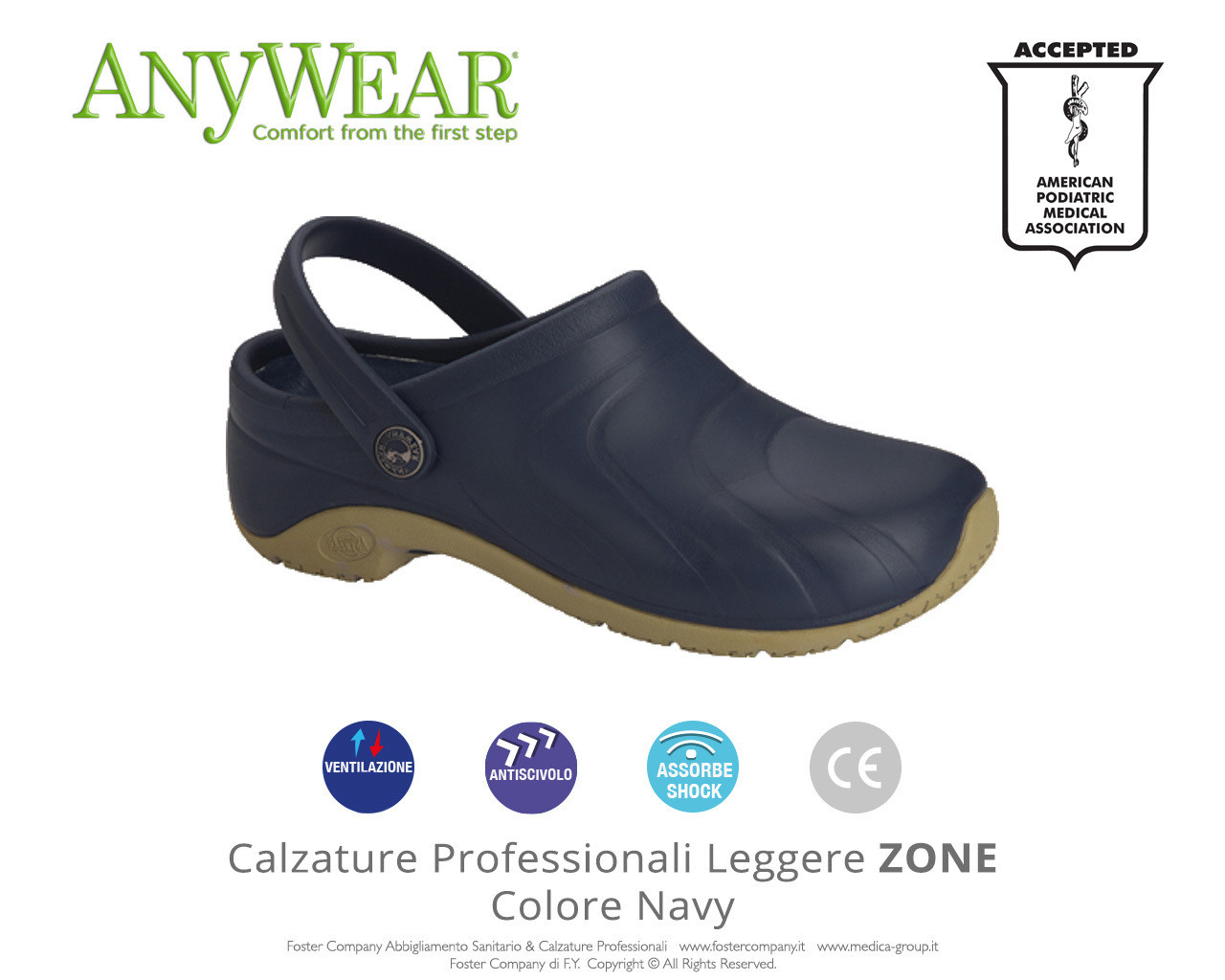 Calzature Professionali Anywear ZONE Colore Navy