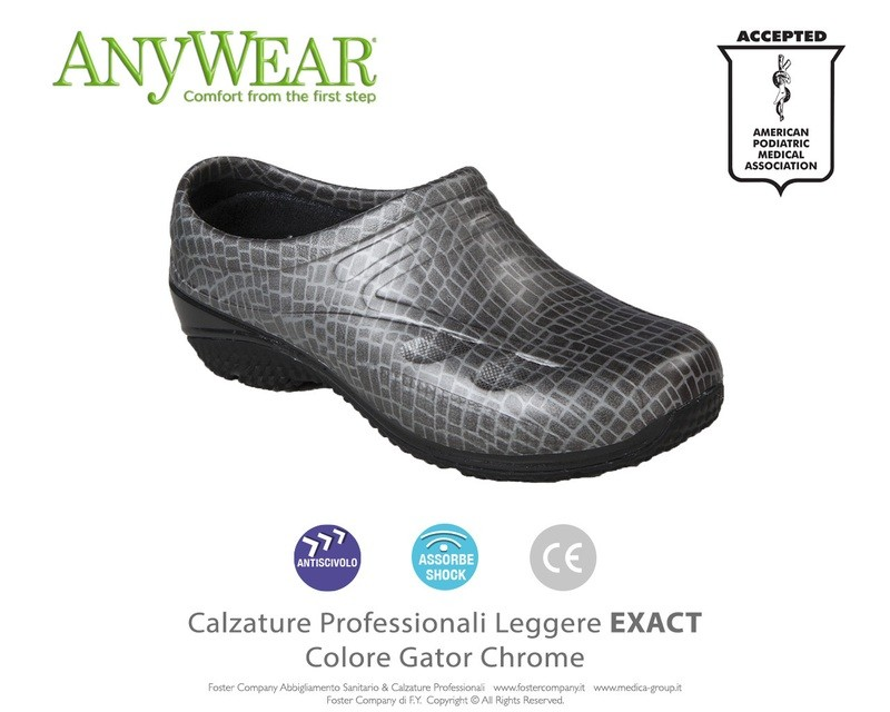Calzature Professionali Anywear EXACT Colore Gator Chrome