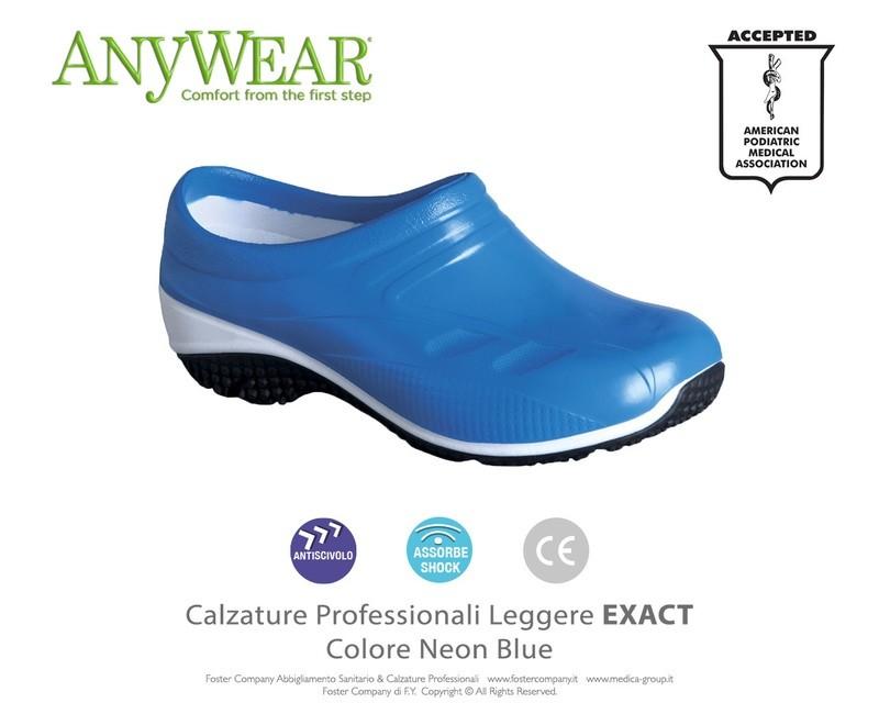 Calzature Professionali Anywear EXACT Colore Neon