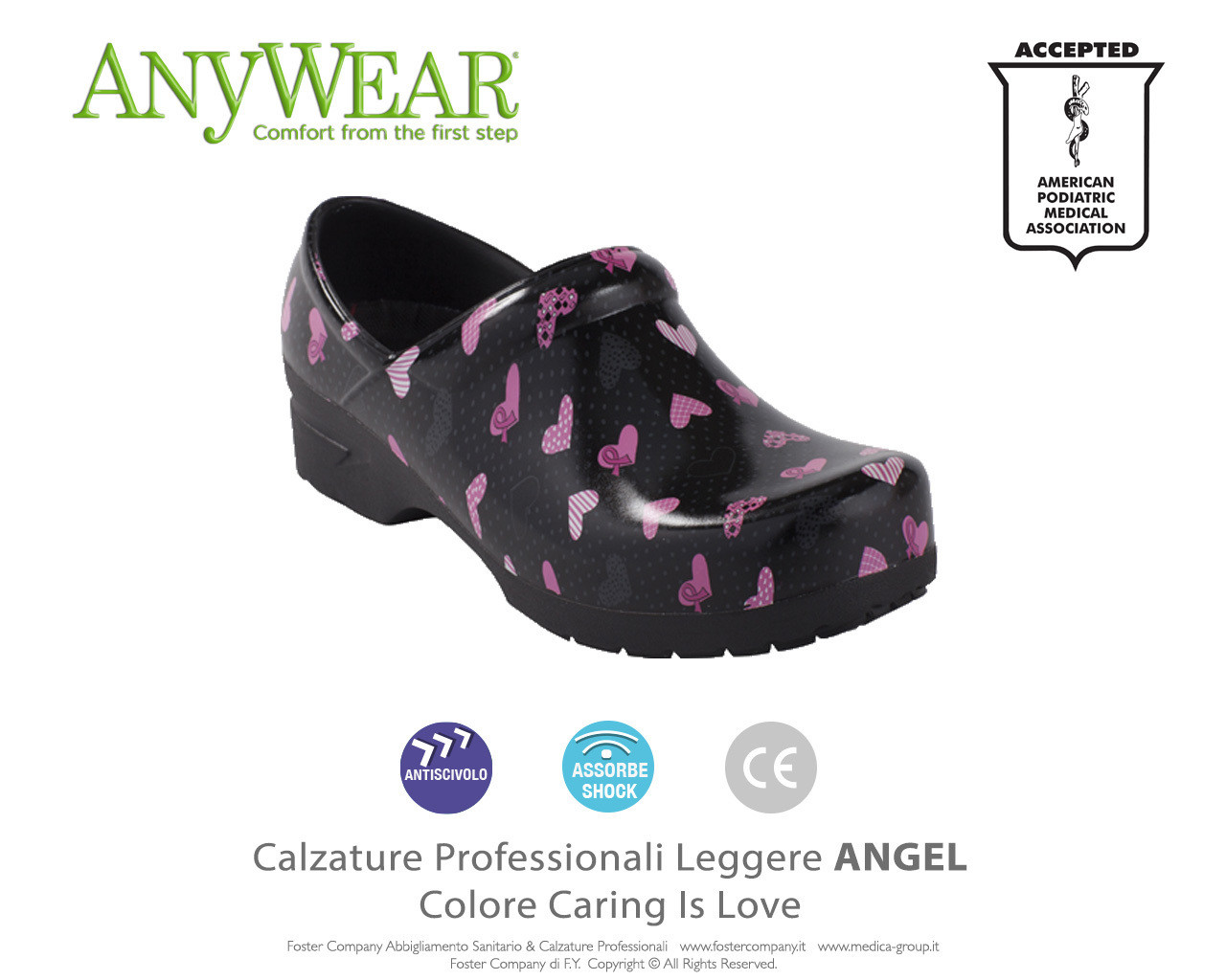 Calzature Professionali Anywear ANGEL Colore Caring is Love