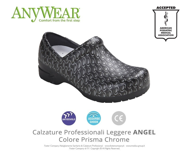 Calzature Professionali Anywear ANGEL Colore Prisma Chrome