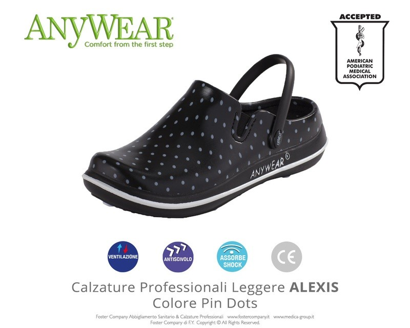 Calzature Professionali Anywear ALEXIS Colore Pin Dots