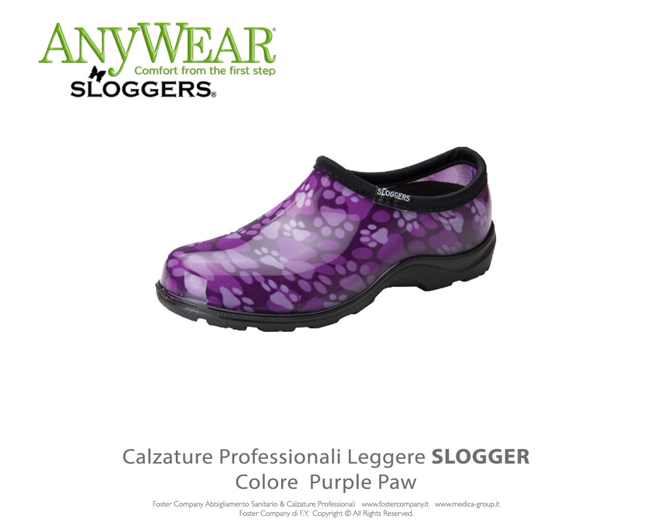 Calzature Professionali Anywear SLOGGER Colore Purple Paw