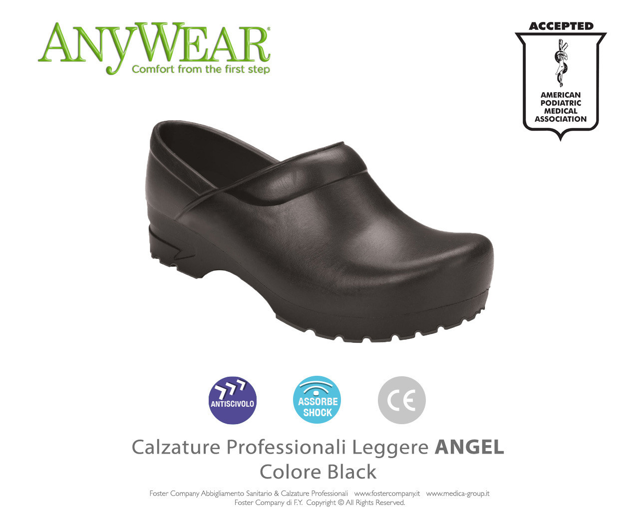 Calzature Professionali Anywear ANGEL Colore Black