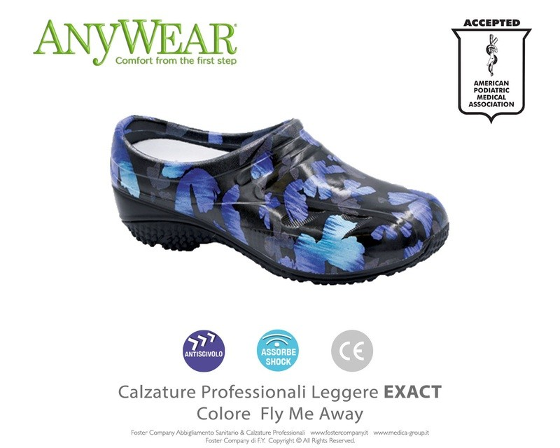 Calzature Professionali Anywear EXACT Colore Fly Me Away