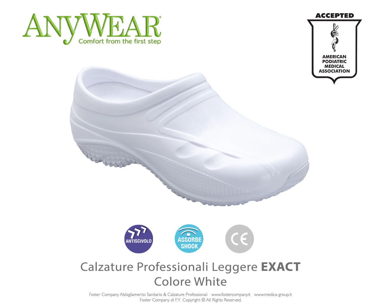 Calzature Professionali Anywear EXACT Colore White