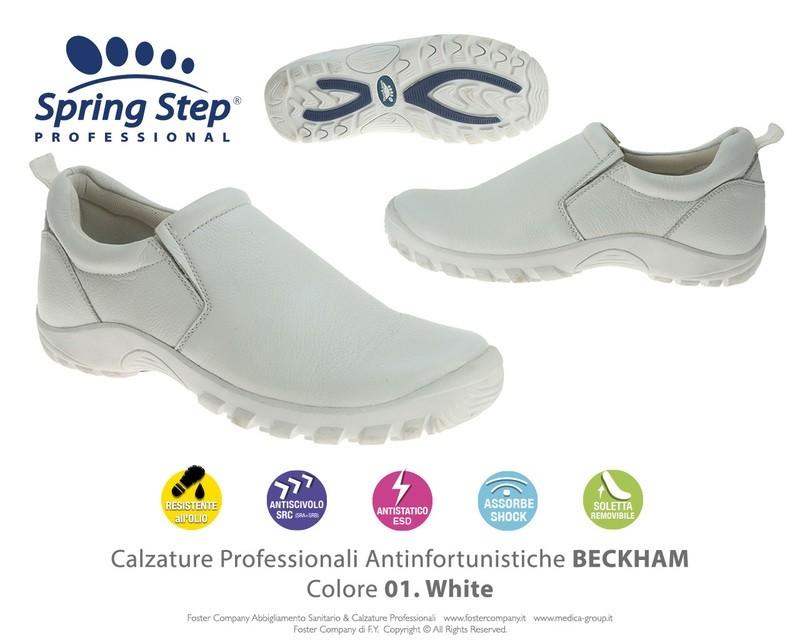 Calzature Professionali Spring Step BECKHAM Colore 01. White