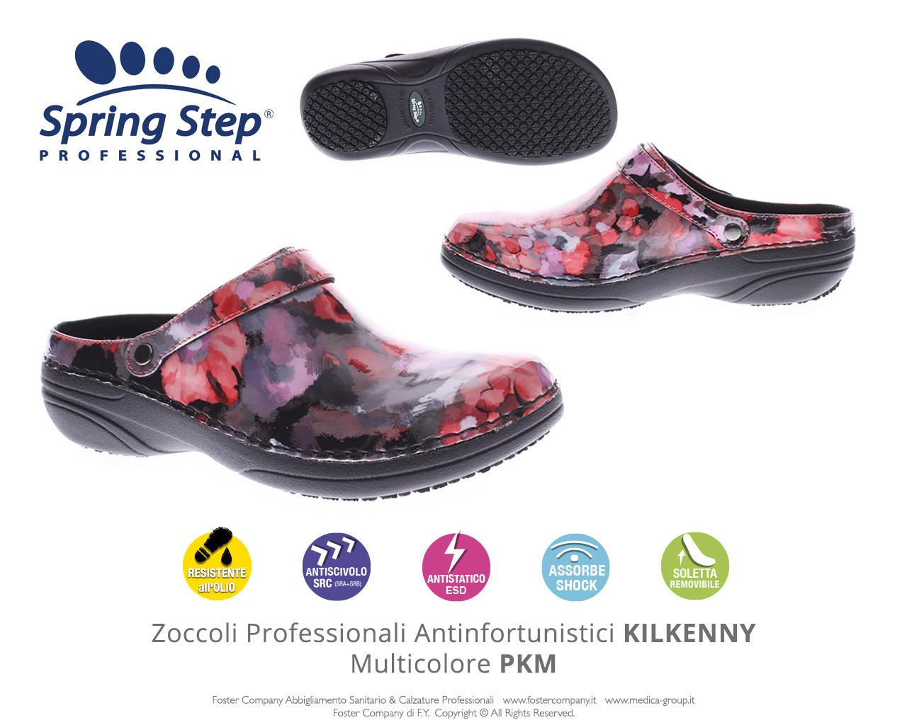 Zoccoli Professionali Spring Step KILKENNY Multicolore PKM