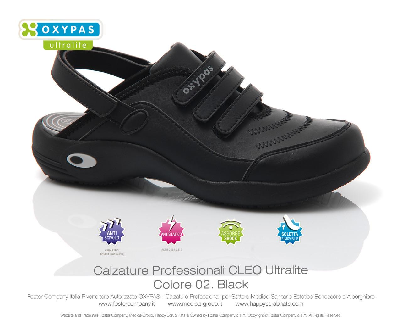 Calzature Professionali Oxypas CLEO Colore 02. Black