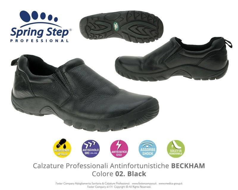Calzature Professionali Spring Step BECKHAM Colore 02. Black