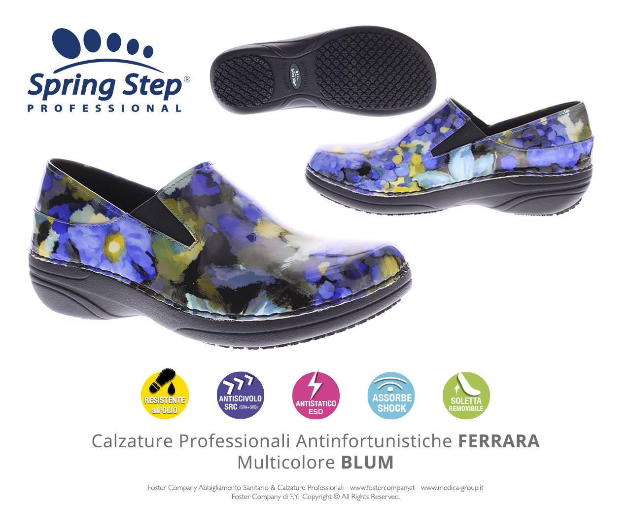 Calzature Professionali Spring Step FERRARA Multicolore BLUM