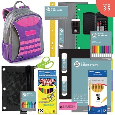 BACKPACK ASSEMBLY KIT (3-5): Taggart Backpacks + School Supplies