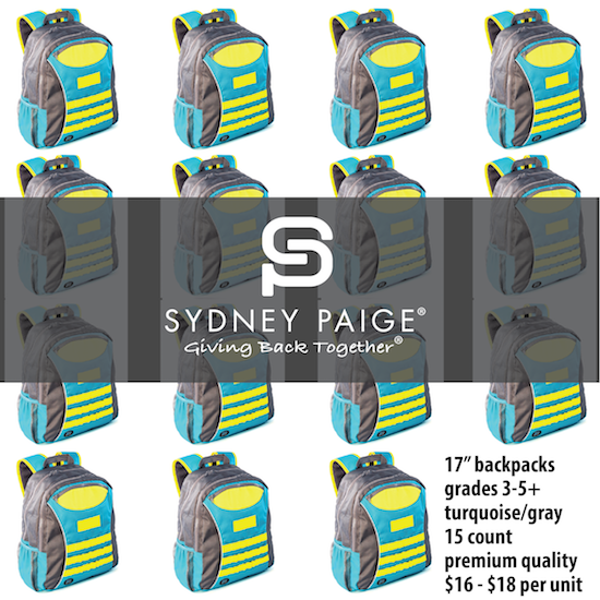 """BUY IN BULK   Sydney Paige 17"""" Premium Backpacks   Taggart   Turquoise   15 count"""
