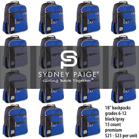 "BUY IN BULK | Sydney Paige | 18"" Premium Backpacks | Raleigh | Royal Blue | 15 count"