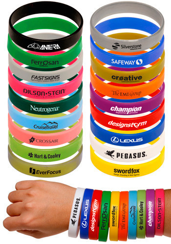 Solid Silicone Promotional Wristbands