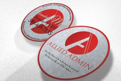 Round Label Printing Size 2