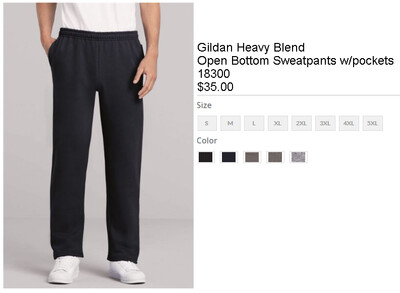 Open Bottom Sweatpants w/pockets