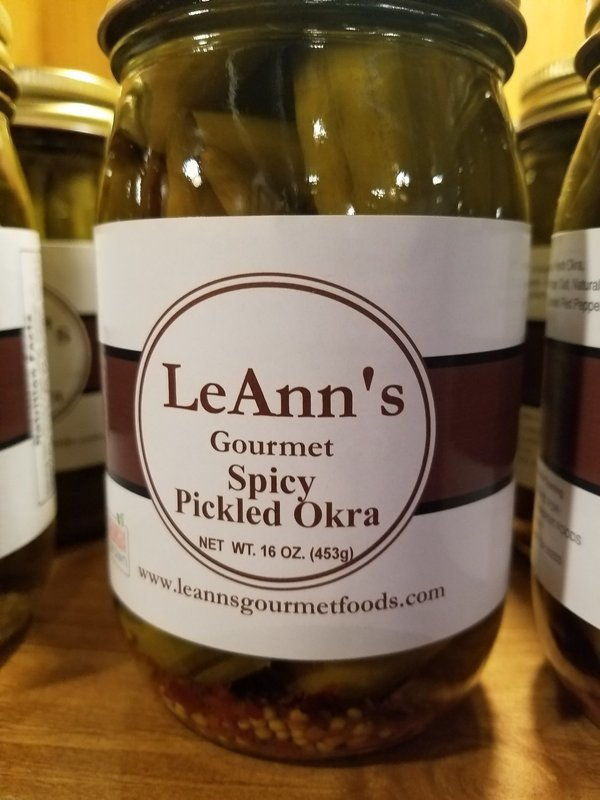 LeAnn's Gourmet Spicy Pickled Okra