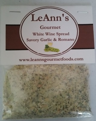 LeAnn's Gourmet  Savory Garlic and Romano White Wine Spread