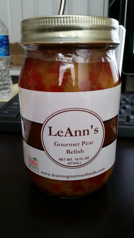 LeAnn's Gourmet Pear Relish