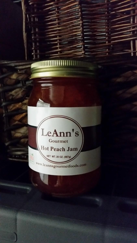 LeAnn's Gourmet Hot Peach Jam