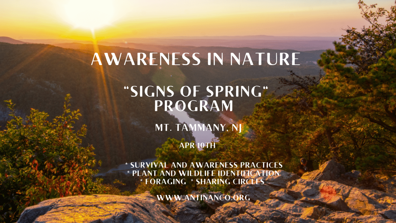 """Awareness in Nature """"Signs of Spring"""" Program - Mt. Tammany, NJ"""